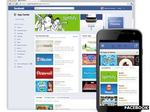 Facebook has launched its own app store to promote mobile programs that operate using the social network. From the mobile App Center, users can browse apps that are compatible with their device, and if a mobile app requires installation, they will be sent to download the app from the App Store or Google Play.