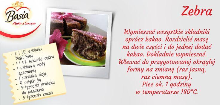 Zebra www.mojabasia.pl/przepisy.html