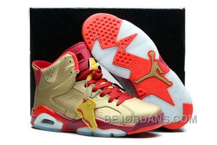 http://www.bejordans.com/clearance-nike-air-jordan-vi-6-retro-mens-shoes-gold-red-white-new-big-discount-yij2k.html CLEARANCE NIKE AIR JORDAN VI 6 RETRO MENS SHOES GOLD RED WHITE NEW BIG DISCOUNT YIJ2K Only $94.00 , Free Shipping!