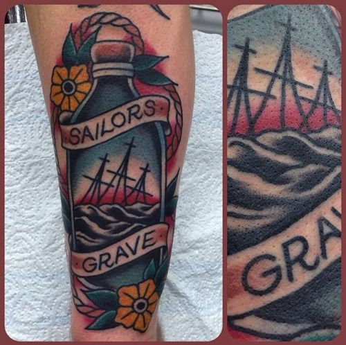 763 best in a bottle tattoos images on pinterest for Sailors grave tattoo gallery