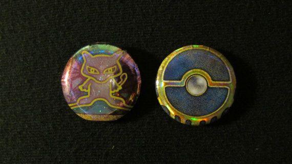 Ancient Mew Pokémon Card Button Set Ancient Mew Pokémon