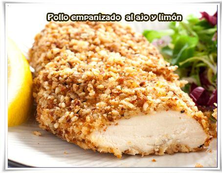 Pollo empanizado  al ajo y lim�n