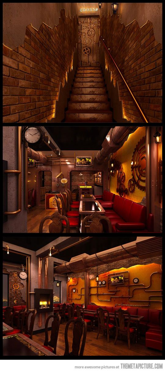 Steampunk restaurant in New Deli…