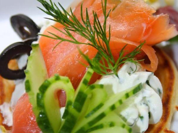 Blinis de salmón ahumado, Receta por Milena - Petitchef