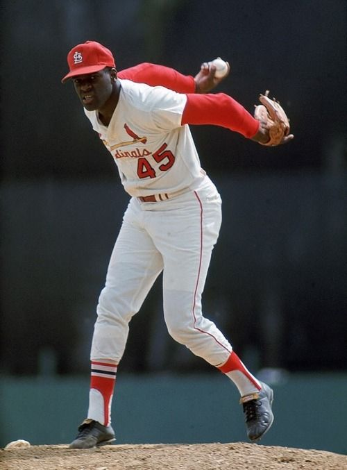 """this-day-in-baseball: """" January 15, 1981 Cardinal right-hander Bob Gibson, receiving 337 votes of the 401 BBWAA ballots cast (84%) in his first year of eligibility, is the only player elected to the Hall of Fame this year. Players falling short of..."""