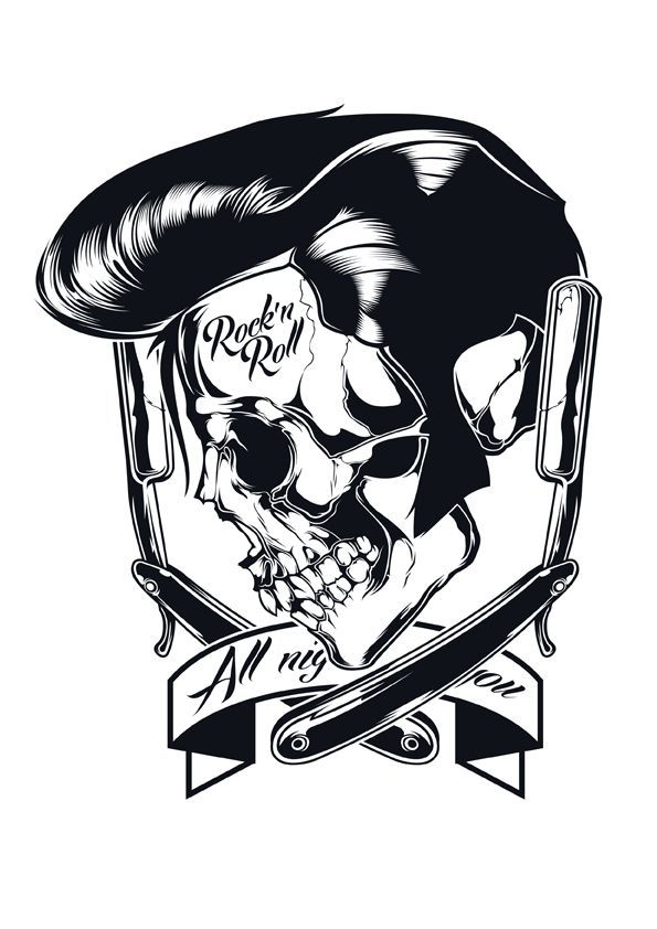 Skull illustrations Vol. 1 by Shulyak Brothers, via Behance