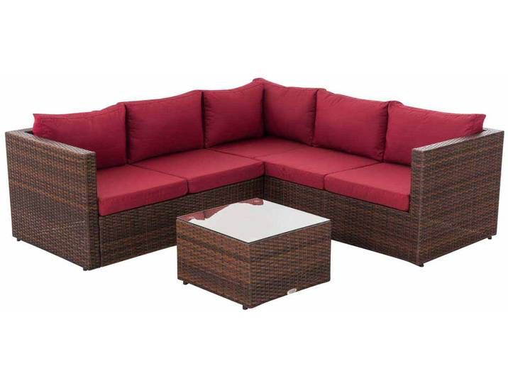 Gartengarnitur Liberi Braunmeliert Rubinrot Outdoor Sectional Home Decor Sectional Sofa