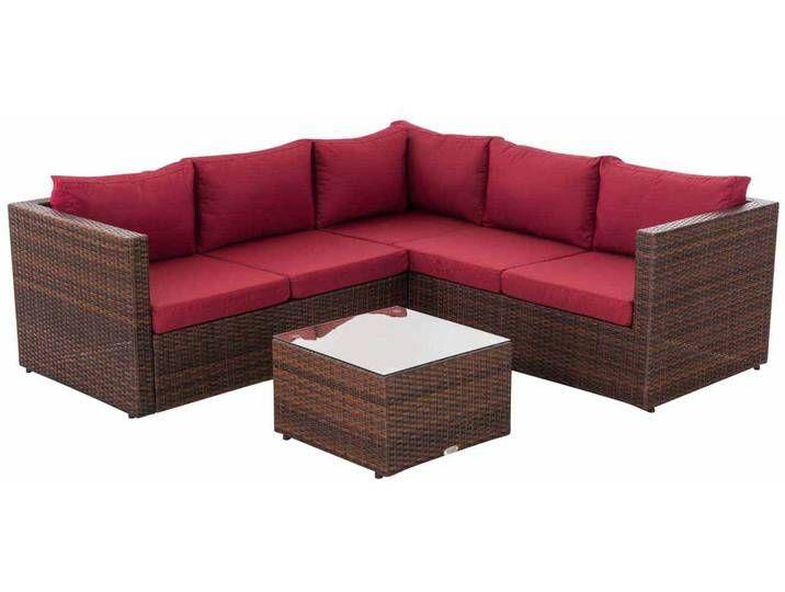 Gartengarnitur Liberi Braunmeliert Rubinrot Outdoor Sectional Home Decor Sectional Sofa