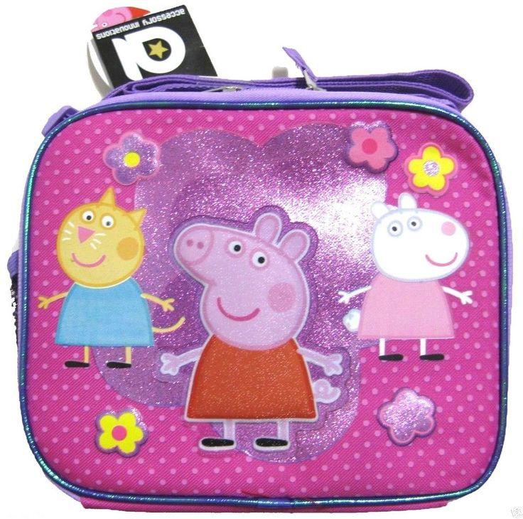 Nickelodeon Peppa Pig insulated School Lunch Box Bag Pail Snack Travel Pack NWT #Nickelodeon #InsulatedLunchBagBox