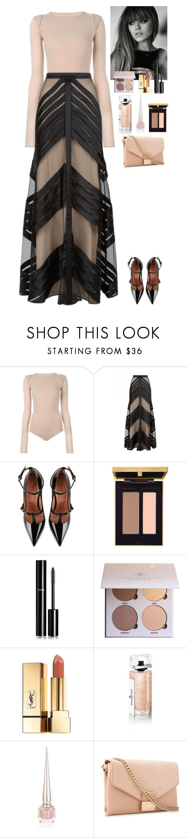 """""""Event"""" by eliza-redkina ❤ liked on Polyvore featuring Maison Margiela, Temperley London, RED Valentino, Chanel, Anastasia Beverly Hills, Yves Saint Laurent, Balenciaga, Christian Louboutin, Whistles and outfit"""