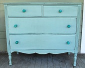 Vintage Blue Dresser