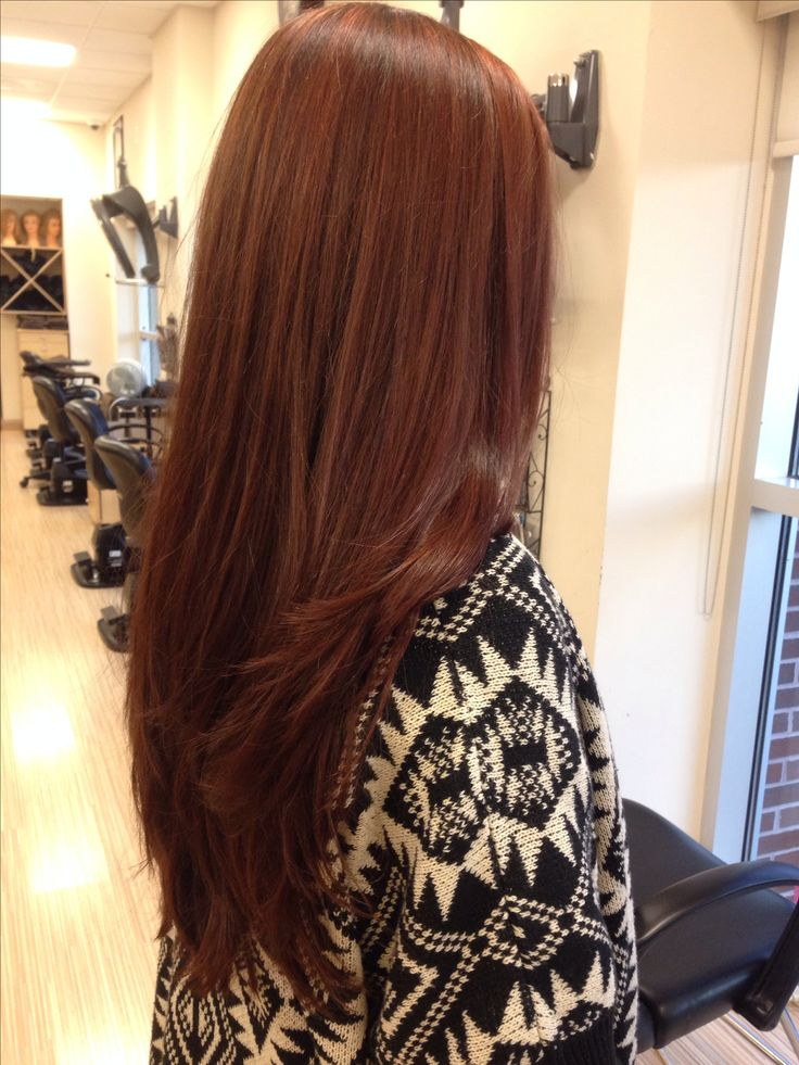 Reddish brown hair color [ hairburst.com ] #brunette #style #natural