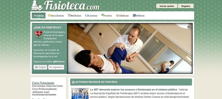 Portal de fisioterapia y ciencias de la salud.  Con el objetivo de compartir artículos, publicar cursos, guía de clínicas… punto de información para todos los fisioterapeutas de la red.