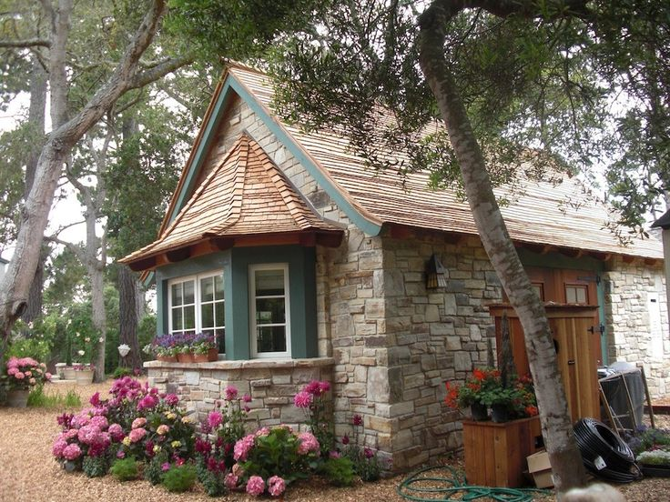 22 beautiful small house designs offering comfortable for Small stone cottage