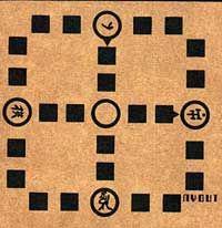Nyout - Jogo de origem coreana, onde teria surgido no séc. IX. Alguns autores divergem, afirmando que já existiriam variantes deste jogo, desde o século III.