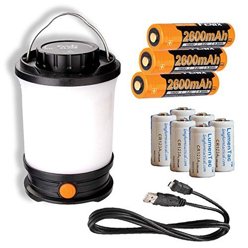 Fenix CL30R 650 Lumen Rechargeable LED Camping Lantern with 3x 18650 Batteries included  6x LumenTac CR123A Batteries ** See this great product. Note:It is Affiliate Link to Amazon.