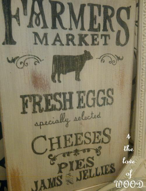 Vintage Farmers Market Sign Vintage Farmer's Marke...