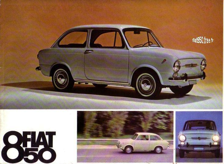 Fiat 850 Berline Catalogue publicitaire Fiat France