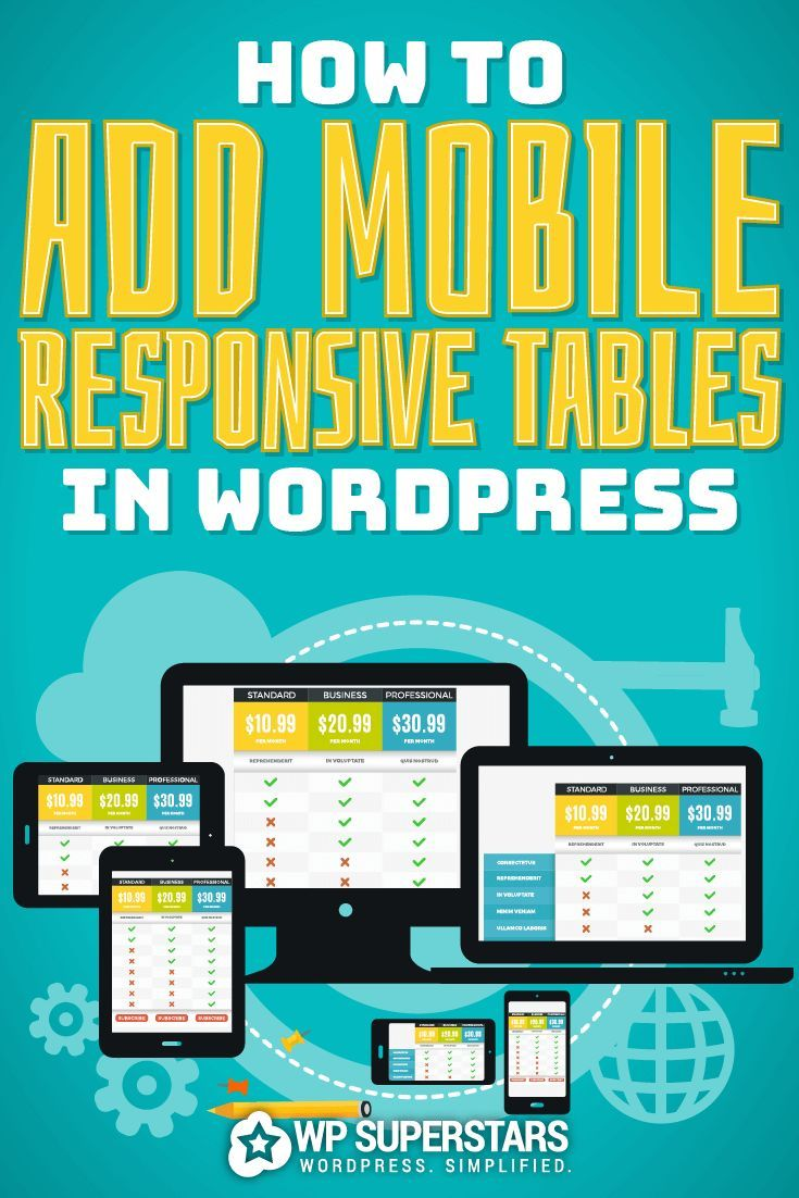 How To Add Mobile Responsive Tables In WordPress