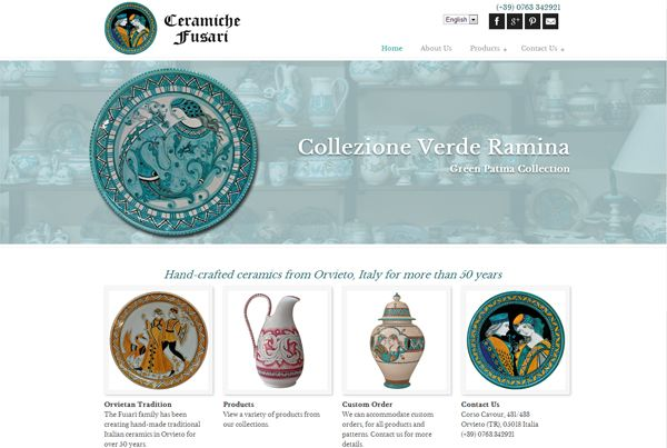 Ceramiche Fusari website design by Creitalia Group