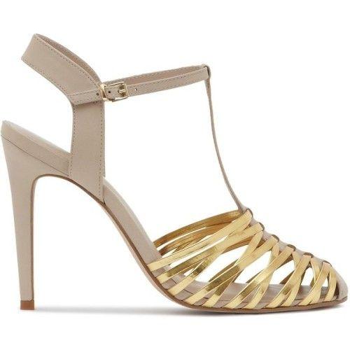 clmarelich0824:  Reiss T-Strap Sandals - Marcie Woven High Heel ...