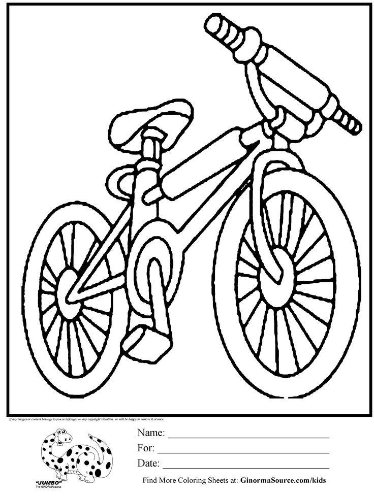 Olympic Colouring Page BMX bike