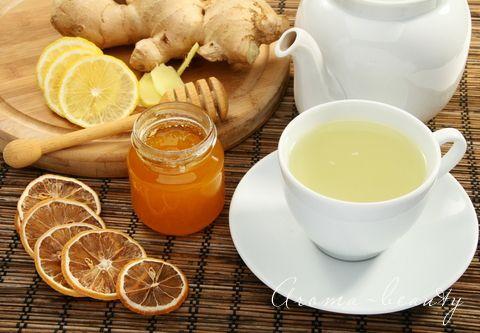 очищающий напиток с имбирем и лимоном