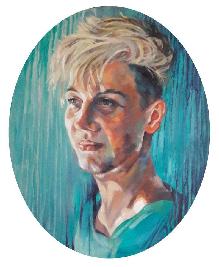 Isaac - portrait oil on canvas
