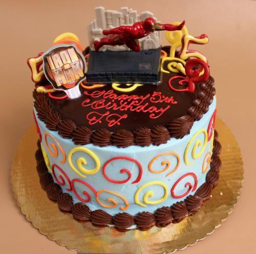 Iron Man Birthday Cake With Decorations