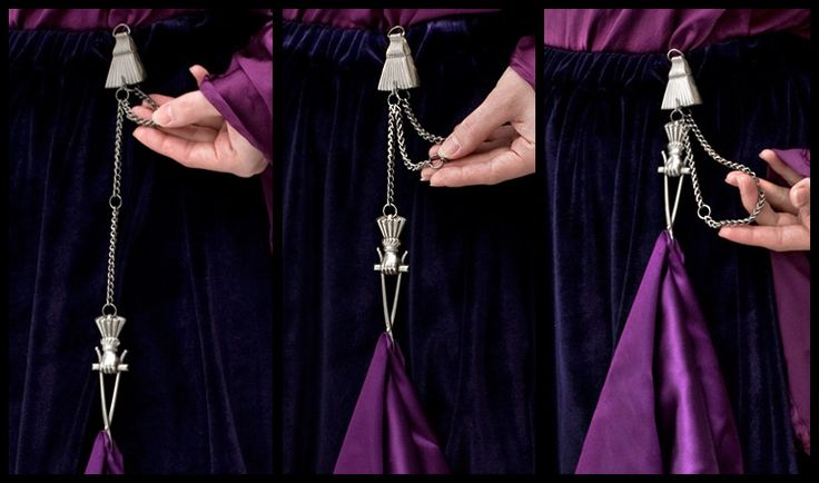 Victorian adjustable skirt lifter.