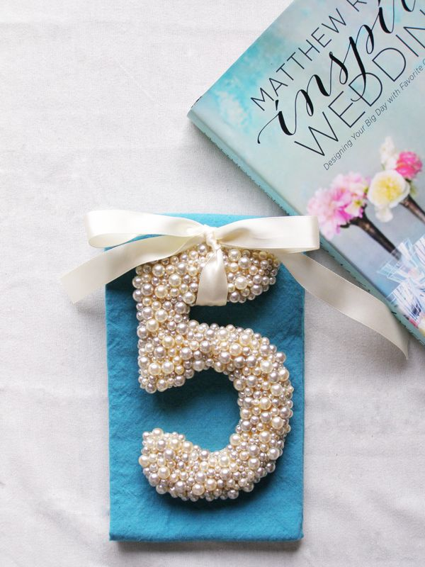 diy letter wedding cake topper diy pearled number can be used as table numbers cake 13609