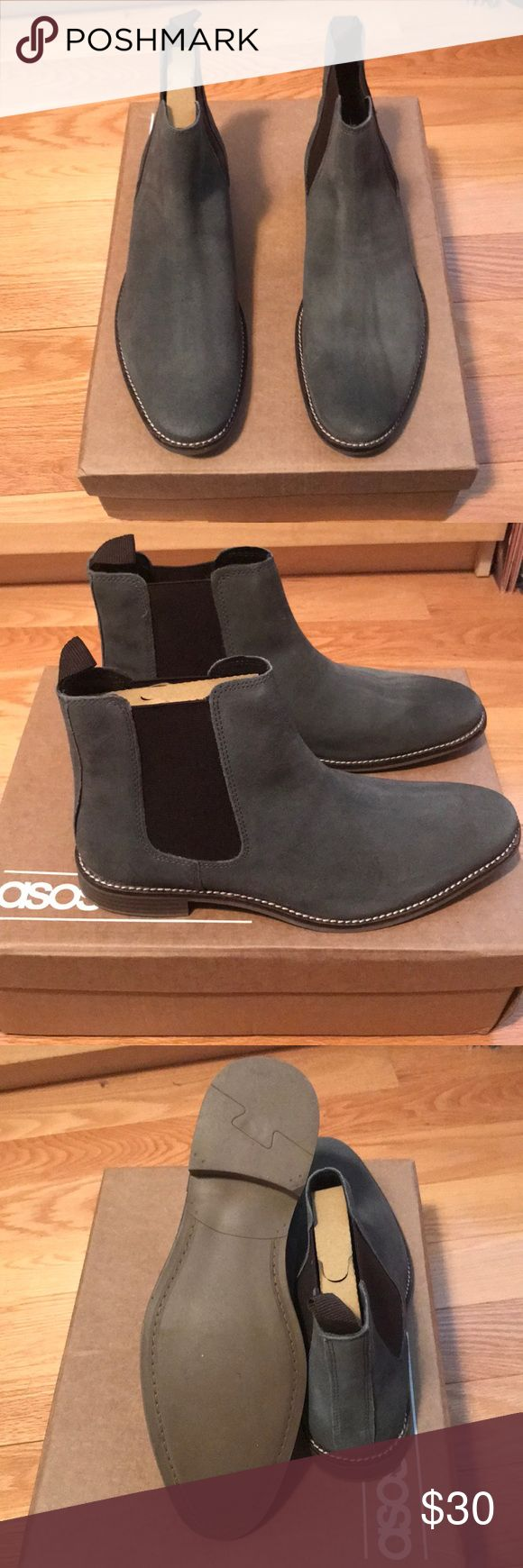 ASOS Men's Grey Suede Chelsea Boot - UK 8 Men's Grey Chelsea Boot in UK 8. These are BRAND new and have never been worn. ASOS Shoes