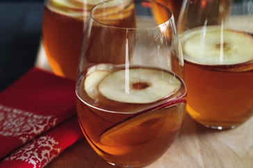 With a splash of warming brandy, this spicy apple-flavoured brew helps fire up the appetite.
