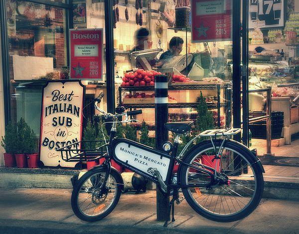 Italian Sub Shop - Monica's Mercato - Boston North End #Boston #NorthEnd #Italian #Food #Deli #Bicycle