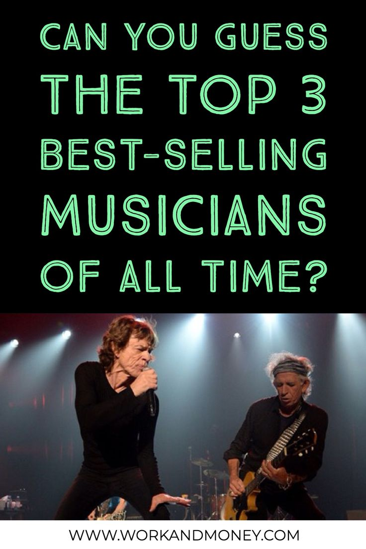 The best-selling musicians and bands of all time, bu album sales.