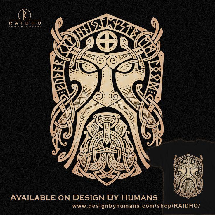 THOR.GODMASK. Knotwork T-Shirt by RAIDHO