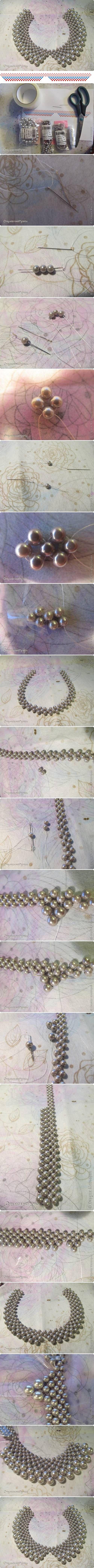 DIY Collar of Beads Necklace