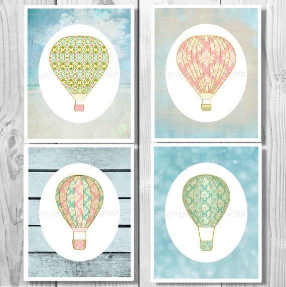 Hot Air Balloon Nursery Hot Air Balloon by MinnesotaPrintCo on Etsy, $10.00