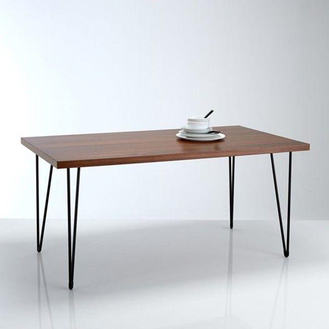 Table repas, plaquée noyer, Watford La Redoute Interieurs | La Redoute Mobile