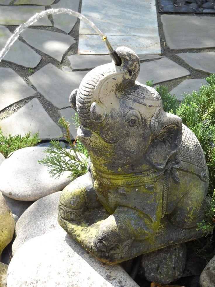 Asian Garden Art Part - 31: Asian Garden Water Feature. Elephant Spitter.