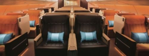 Singapore Airlines Airbus A380 Business Class seat the widest in the sky