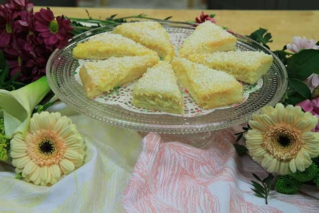 Kunglig sockerkaka med kokos på toppen, riktigt gott när kakdrottningen Birgitta Rasmusson bakar sin variant.