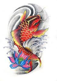 Hasil gambar untuk pez koi tattoo flash | Tato phoenix