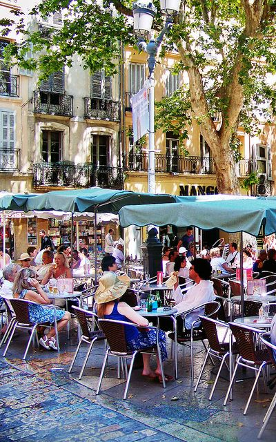 Aix en Provence cafe3 by photoartbygretchen, via Flickr