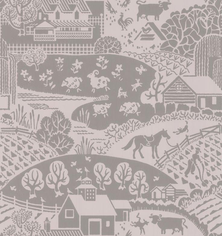 Gable Mushroom wallpaper by Farrow & Ball