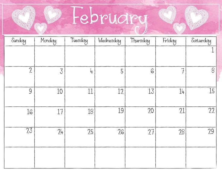 February 2020 Calendar PDF, Excel Sheet | Free Printable ...