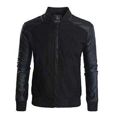 Thin Man com costura jaqueta de couro – BRL R$ 111,15