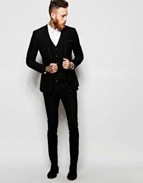 ASOS Super Skinny Fit Suit In Black                                                                                                                                                                                 More