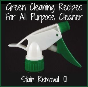 I've collected a number of green cleaning recipes from readers and contributed my own, which you can see below. What follows is a collection of recipes