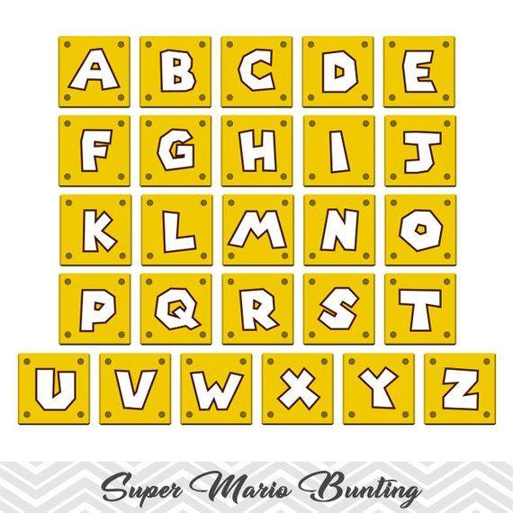 Printable Super Mario Banner, Printable Super Mario Inspired Party Banner, Super Mario Party Banner, Instant Download Mario Run Banner 0062